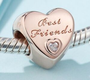 ROSE GOLD BEST FRIEND FRIENDS CHARM BEAD GENUINE BARGAIN SALE PRICE !!