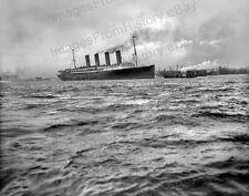 8x10 Print Historic RMS Lusitania Cunard Liner Hudson River 1908 #RMSL