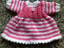 """Poupées Vêtements tricoté à la main pour 12 - 14"""" 30-36 cm de poupée robe-vraiment mignon"""