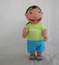 """Disney Lilo & Stitch plastic Lilo doll dressable posable rooted hair 11"""" tall"""