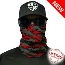 Salt Armour Face Shield Fire Red Military Camo.. Buy 2 Get 1 Free!!
