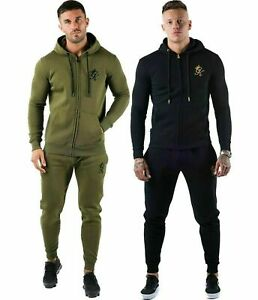 New Mens Gym King Full Zipped Hooded Tracksuit Top & Bottoms all sizes