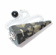 Scapolite with Mica Dowsing Pendulum Crystal Point