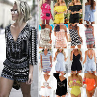 Women's Clubwear Jumpsuit Romper Shorts Summer Holiday Mini Playsuit Beach Dress