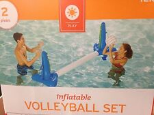 Inflatable Volleyball Net Pool Game Set Ball Swimming Floating Water Fun New