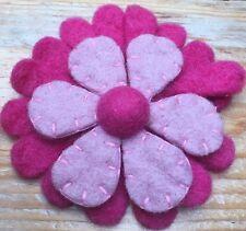 Cute Handmade Flower Shaped Felt Craft Brooch/Pin/Vintage Style/Kitsch/Retro