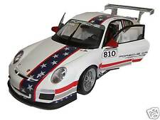 Museum: Porsche 911 GT3 Cup #810 US Flagge M. Snow - Welly 1:18 - MAP02104014
