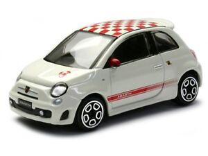 FIAT 500 ABARTH 1:43 Car NEW Model Diecast Models Cars Die Cast White