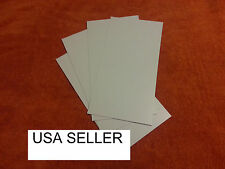 WHITE STYRENE SHEETS (5) .060 (1.0 MM) POLYSTYRENE 0.06 .06 Model grade