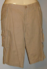 BCBGirls Walking Cargo Shorts Ladies Sandal Brown  Size 10  New With Tags Linen