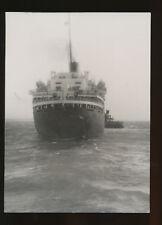 Vintage SS Liberte B&W Photo - Stern View - French Line