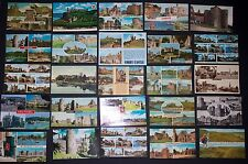 Collection of 25 Vintage Postcards of Castles and Churches in England - Corfe
