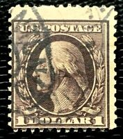 US Stamp SC #342 $1 Washington Regular Issue Used CV:$90