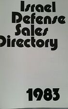 Israel Defence Sales Directory 1983 Military interest.