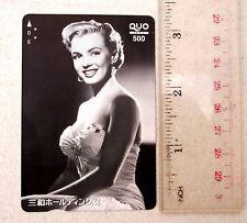 MUST HAVE! Marilyn Monroe Used Japanese Plastic Phone Card