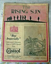 RISING SUN magazine. September 3, 1936.  R.S.L. Ex-service men and women.