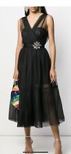 Pinko Dress Faux Leather And Tulle Size Small (IT 40) Current Collection