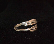 Ring Feather Sterling Silver Native American Navajo Artist Russo Size 6, 7,8,9