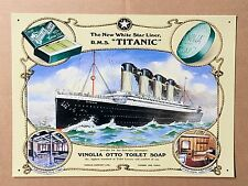 Titanic Vinolia Otto Toilet Soap - Tin Metal Wall Sign