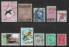 E1] 10 different WORLD revenues and cinderella stamps