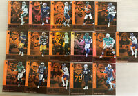 2019 Panini Illusions Football Orange Parallel Card Lot - Brees-Bell-Flacco