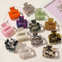 Women Square Hair Claw Clips Barrette Crab Clamp Acetic Acid Hairpin Hairdress