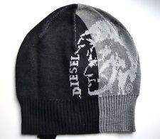 Diesel Grey Black Skull Longer Ribbed Beanie Logo Toque Hat OSFA Unisex Tags f46ae1ff5dc
