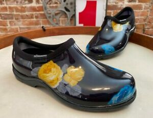 Sloggers Yellow Big Floral Waterproof Garden Shoe Comfort Insole New Clog