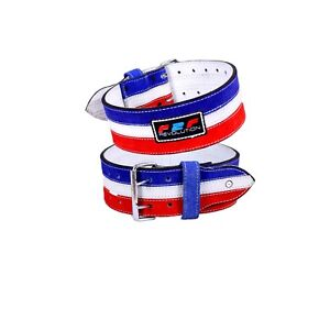 F2F Weight Lifting Power Leather Belt Made Multi COLOR  Double Prong Buckle