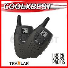 NEW PAIR UHF HANDHELD 2-WAY RADIO WALKIE TALKIE 3KM 80CH AUST LEISURE WORKSITE