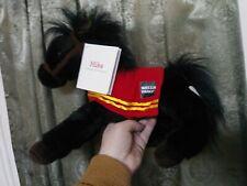 "2016 Wells Fargo Bank Mike Legendary Pony Plush 14"" Black Horse Stuffed Animal"