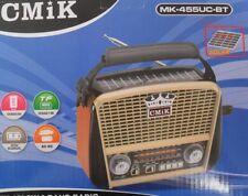 Solaire Bluetooth Radio Vintage Rechargeable AM/FM/SW1-3 USB MP3 TF 110/230 Pile