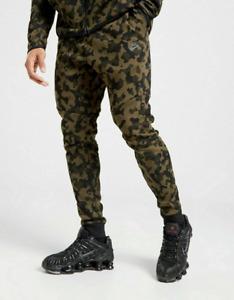 NIKE TECH FLEECE CAMO JOGGERS PANTS XL EXTRA LARGE SLIM FIT GREEN CJ5981-222