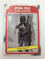 1980 Topps Star Wars The Empire Strikes Back #11 BOBA FETT STAR FILE Card Rookie