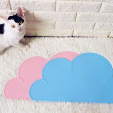 Pet Cat Dog Cloud Shape Rubber Placemat Puppy Kitty Dish Bowl Feeding Food Mat