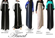 ❤️Muslim Dresses For Women Maxi Abaya Long Sleeve Cotton Islamic Hijab Scarf USA