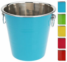 Coloured Stainless Steel Ice Bucket Wine Cooler Champagne Cooler - 5 Colours