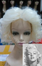 Ladies Sexy 1950s Marilyn Monroe White Blonde Cosplay Wig Fancy Dress Costume