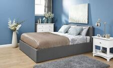 OTTOMAN END LIFT BEDSTEAD HOPSACK FABRIC  GAS LIFT STORAGE BED 3FT 4FT 4FT6 5FT