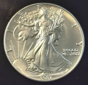 USA - American Eagle 1 Dollar von 1987 - 1 Unze Silber - 2