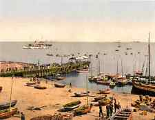 The Pier Helgoland Germany Vintage A4 Photo Print