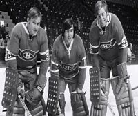 NHL Montreal Canadiens Goalies Phil Myre Rogie Vachon  Ken Dryden 8 X 10 Photo
