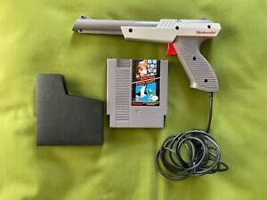 NICE TESTD NES GREY ZAPPER GUN + SUPER MARIO BROS. DUCK HUNT 1984 BUNDLE NES-005