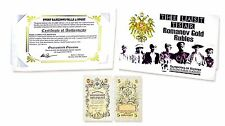 The Last Tsar,Romanov 5 Rubles Gold 1909 Banknote P-10 ,Story & Folder