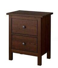 Ikea Hemnes 2 Drawer Chest, Night Stand Medium Brown Walnut Brand New