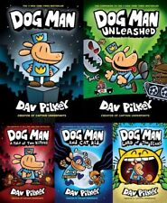 Dogman Series Set Lot Books 1-5 1 2 3 4 5 by Dav Pilkey Dog Man