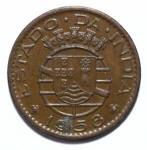 1958, India Portuguese, 30 Centavos, Republic, Bronze, gVF, KM# 31, Lot [1089]