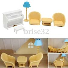 6PCS Set Sofa Table Miniature Doll House Furniture Living Room Kids Play Toys
