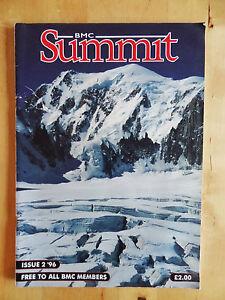 BMC SUMMIT MAGAZINE ISSUE 2 1996 CLIMBING MAG BACK ISSUE MOUNTAIN CLIMB