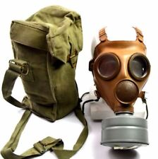 WWII Belgium / French gas mask M51 Old vintage army military gas mask 1940's